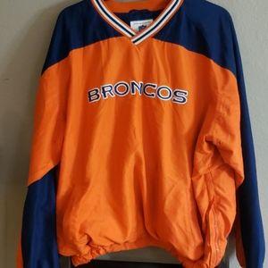 XXL Denver Broncos Windbreaker Pullover
